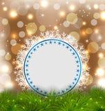 Xmas elegant card on glowing background Royalty Free Stock Photography