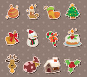 Xmas element stickers Royalty Free Stock Image