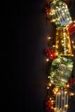 Xmas eller sammansättning för nytt år med ljus Royaltyfri Foto