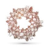 Xmas engraving wreath Royalty Free Stock Photo
