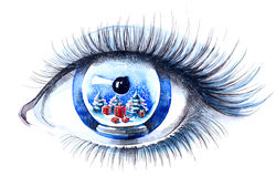 Xmas eye Stock Photos