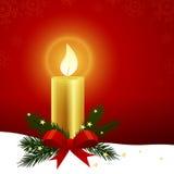 xmas för gåva för garnering för bakgrundsstearinljusjul guld- Royaltyfri Fotografi