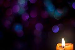 xmas för gåva för garnering för bakgrundsstearinljusjul guld- Arkivfoton