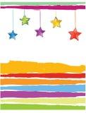 xmas för kortfärgstjärnor stock illustrationer