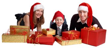 Xmas Family Royalty Free Stock Photos