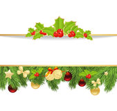 Xmas fir frame Royalty Free Stock Images