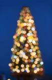 Xmas fir-tree, blur light Stock Photography