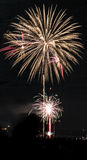 Xmas Fireworks in Aberdeen Stock Image
