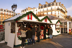 Xmas food stall, France Royalty Free Stock Photos
