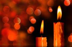 xmas för gåva för garnering för bakgrundsstearinljusjul guld- Royaltyfria Bilder