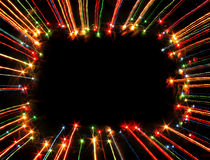 Xmas frame. Nice xmas frame from the color lights royalty free stock image