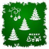 Xmas frame and design elements Royalty Free Stock Photos