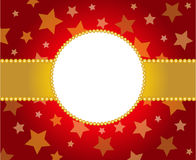 Holiday frame in red and golden colors. Template frame design for xmas card or birthday card Stock Image