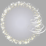 Xmas frame with snowlakes (white) Royalty Free Stock Photography