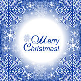 Xmas Frame or winter seasonal Frame Stock Photos
