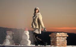 xmas-fritid och vinteraktivitet royaltyfria bilder
