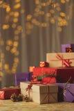 Xmas gift boxes Stock Image