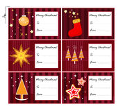 Xmas gift cards Royalty Free Stock Photography