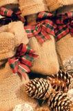 Xmas gift, christmas pine cone Royalty Free Stock Photo