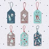 Xmas gift tags-party vector illustration