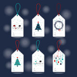 Xmas gift tags Stock Image
