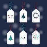 Xmas gift tags Stock Image