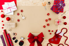 Xmas gift wrap set Stock Image