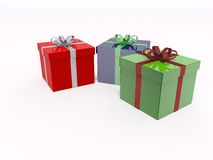 Xmas gifts box Royalty Free Stock Photography