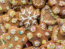 Xmas gingerbread cakes Royalty Free Stock Photos