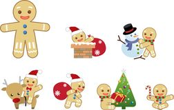 Xmas gingerbread men Action Stock Images