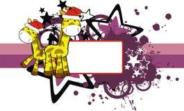 xmas giraffe copyspace Стоковое Фото