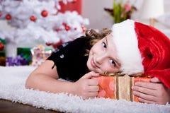 Xmas girl Royalty Free Stock Images
