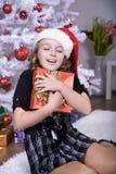 Xmas girl Stock Image