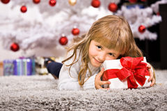 Xmas girl Stock Images