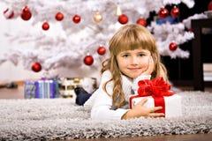 Xmas girl Royalty Free Stock Photos