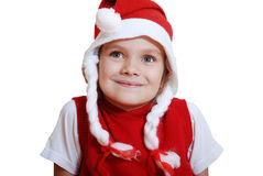 Xmas girl Royalty Free Stock Image