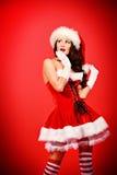 Xmas girl Royalty Free Stock Image