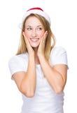 Xmas girl smile Royalty Free Stock Images