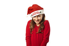 Xmas girl smiling Stock Photo