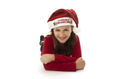 Xmas girl, smiling Royalty Free Stock Photography