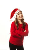 Xmas girl smiling Royalty Free Stock Photo