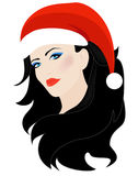 Xmas girl vector Stock Photos
