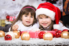 Xmas girls Royalty Free Stock Photos