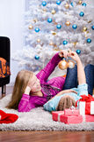 Xmas girls Stock Photos