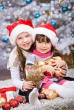 Xmas girls Stock Photo
