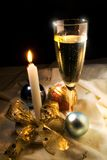 Xmas glass Royalty Free Stock Photography
