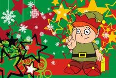 Xmas gnome elf kid cartoon background9 Stock Photos