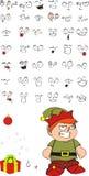 Xmas gnomo elf kid cartoon set5 Stock Images
