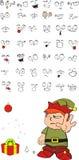 Xmas gnomo elf kid cartoon set8 Royalty Free Stock Photography