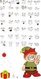 Xmas gnomo elf kid cartoon set01 Stock Image